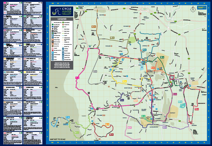 Cycle Hunter Valley Map